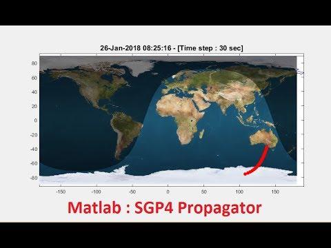 SGP4 Propagator using Matlab