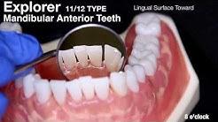 Dental Hygiene Education: 11/12 Explorer Instrumentation Guide