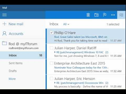 How To: Email Management for Touchscreens in the Windows 10