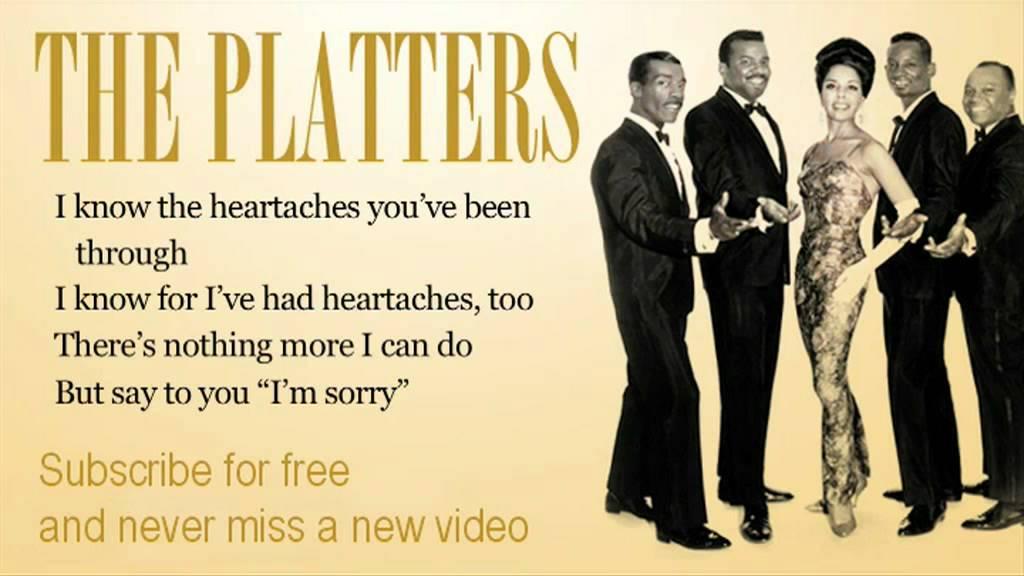 The Platters - I'm sorry - Lyrics