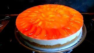 "#Торт ""Абрикосовый"" без выпечки / #Cake ""Apricot"" without baking."