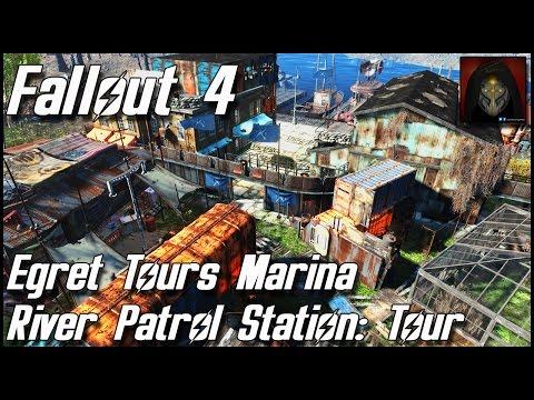 Fallout 4 - Egret Tours Marina -  River Patrol Station: Complete Settlement Tour