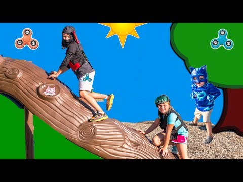 PJ MASKS Disney Stolen Fidget Spinner Catboy and Assistant Hunt the Ninja Funny Kids Video