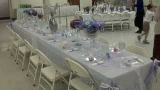 Beautiful Table Settings For The 70th Anniversary Buffet Dinner - April 21, 2013