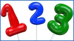 Numbers with Gas Balloons | Learn to Count From 1 To 10 | Number Counting Video