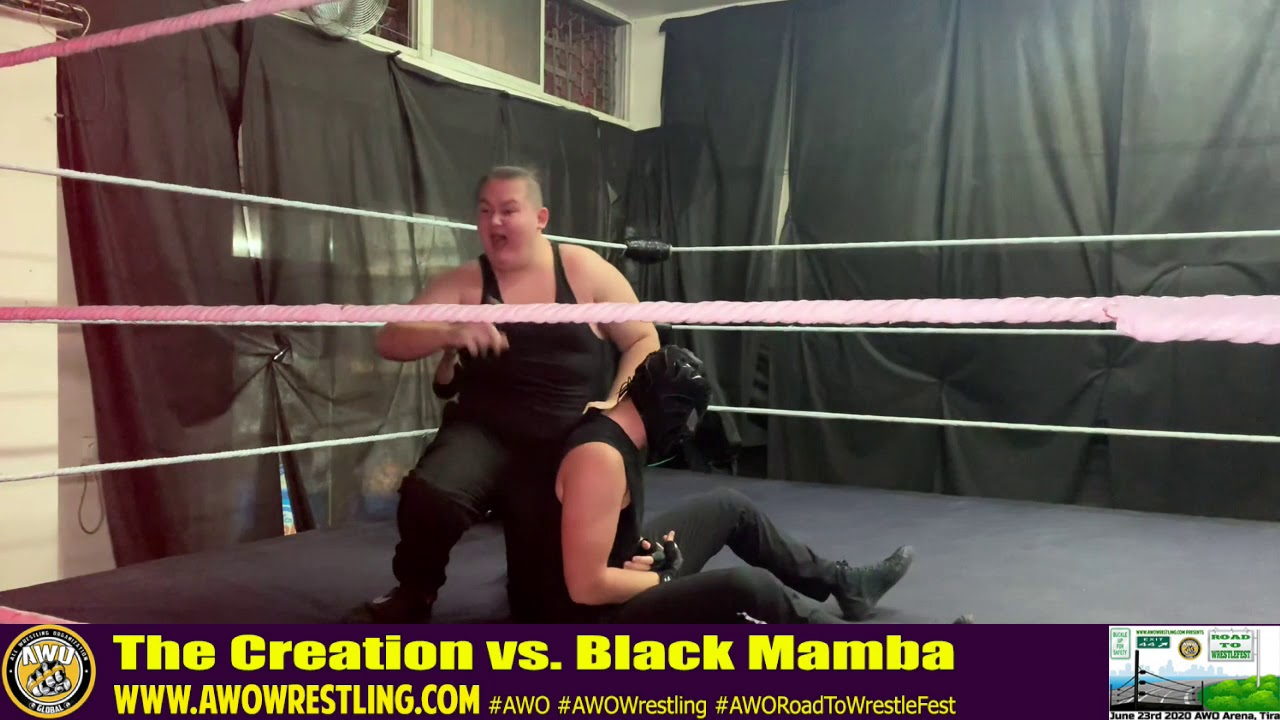 AWO Road To WrestleFest 2020 The Creation vs. Black Mamba