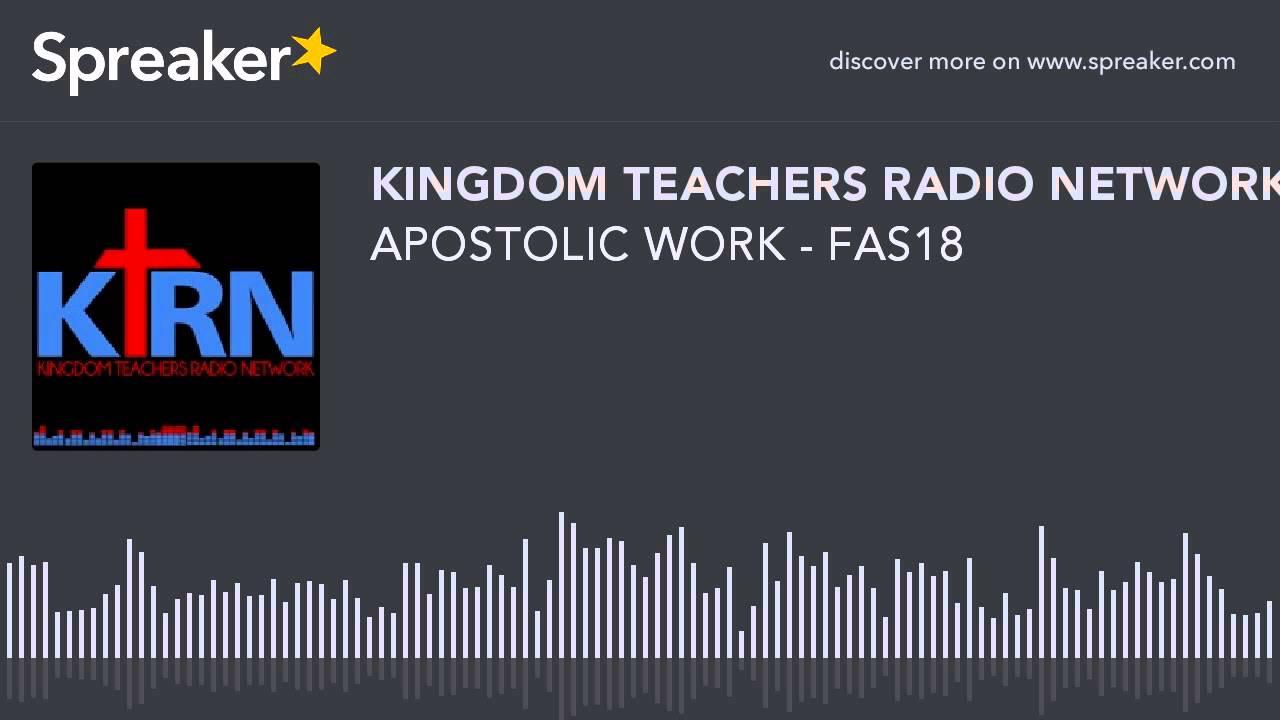 APOSTOLIC WORK - FAS18