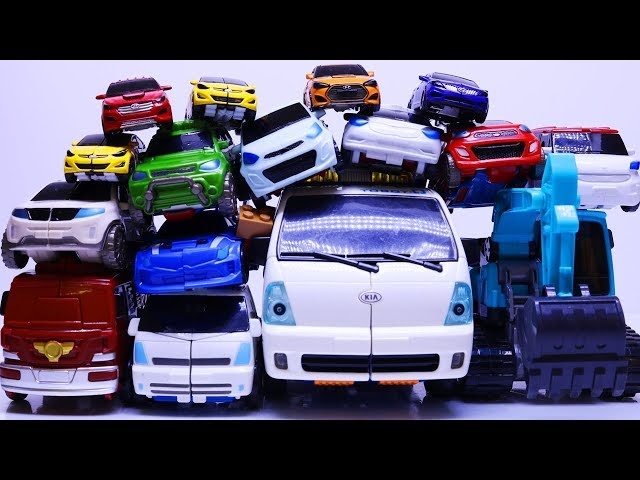 Tobot Rescue Bots Stop Motion - Transformers Quatran, Deltatron Carbot Racing Car Mainan Robot Toys