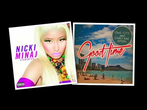 Nicki Minaj vs. Owl City & Carly Rae Jepsen - Good Starships Time (Mash-Up)