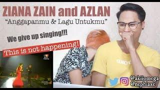 Ziana Zain feat Azlan (typewriter) - Anggapanmu & Lagu Untukmu ABPBH25 | REACTION