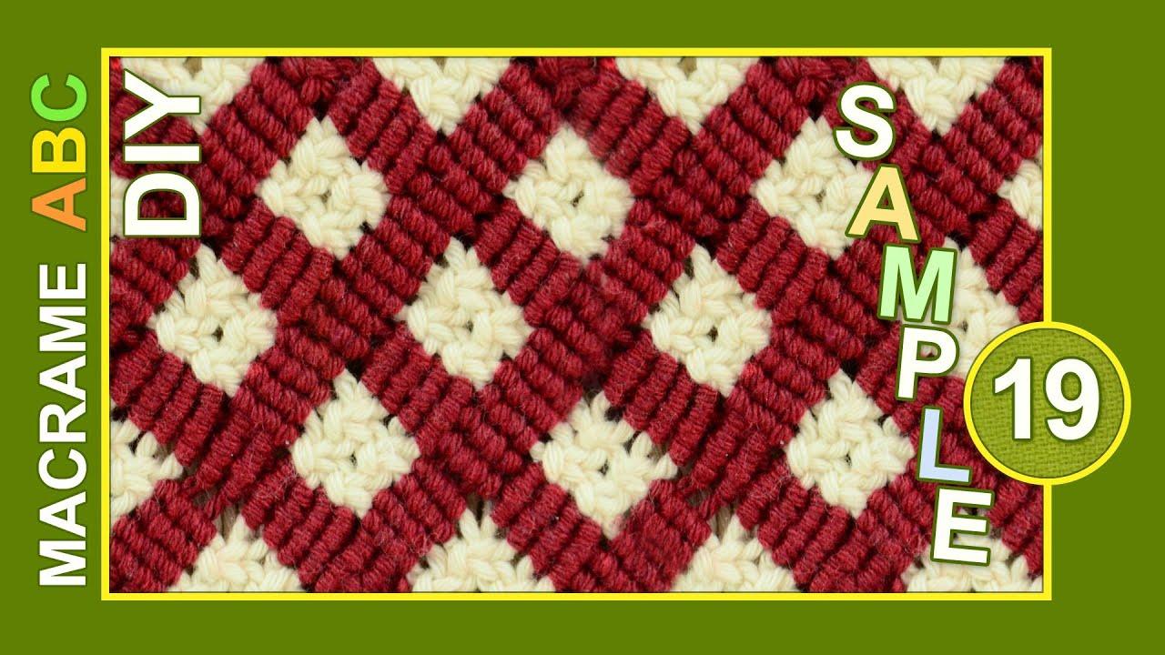 Macrame ABC - pattern sample #19 - YouTube