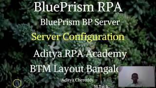 BluePrism RPA - BP ملقم التكوين - أديتيا RPA الأكاديمية