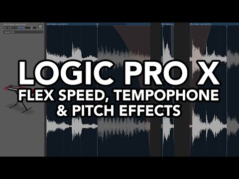 Logic Pro X - Flex Speed, Tempophone and Pitch Effects