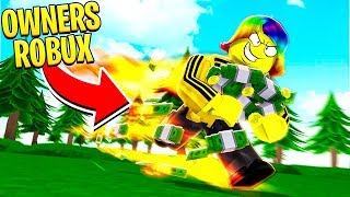 I USED THE OWNER'S ROBUX TO GET MAX SPEED.. (Roblox)