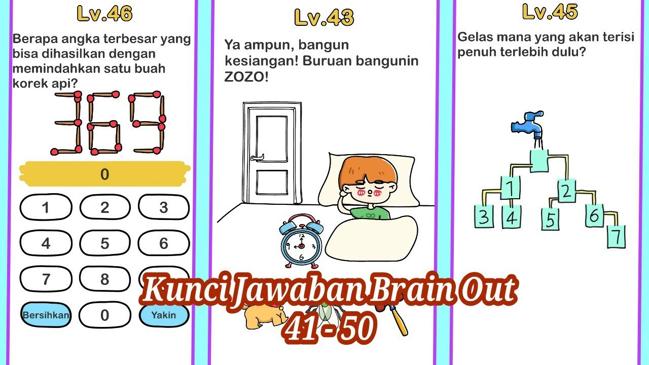 Kunci Jawaban Brain Out Level 41 - 50 - YouTube
