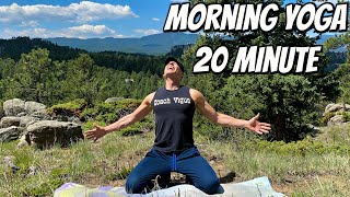 20 min Morning Yoga Stretch for Energy (WAKE UP YOGA) Sean Vigue Fitness