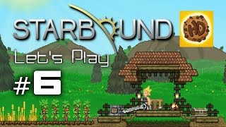 Starbound Let's Play Part 6: Diamonds, Steel & Erchius! (Bonus Happy)