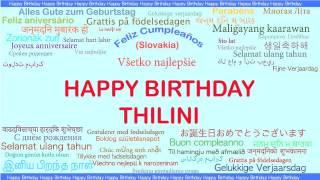 Thilini   Languages Idiomas - Happy Birthday
