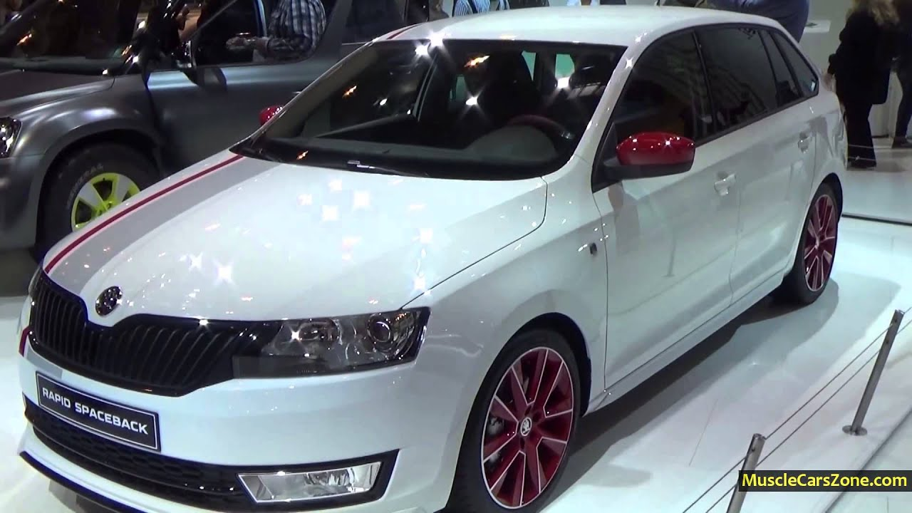 White Skoda Rapid Spaceback Monte Carlo 1 2l Tsi 105hp 2014 Essen