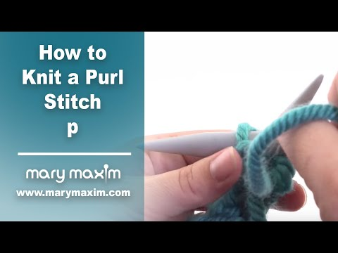 How To Knit Purl Stitch For Beginners : Purl Stitch Slow Motion Doovi