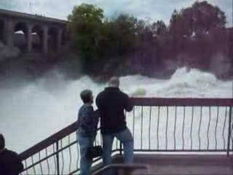 Spokane river and falls