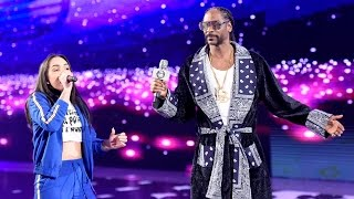 Snoop Dogg Raps Sasha Banks To The Ring: WrestleMania 32