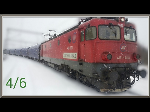 Train cab wiev Serbia - Freight train on the section from Mala Krsna to Ostruznica 4/6