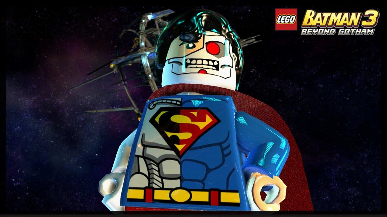 LEGO BATMAN 3 - CYBORG SUPERMAN FREE ROAM GAMEPLAY! - YouTube