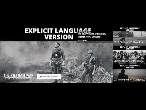 PBS Series Vietnam War: Learn From It.
