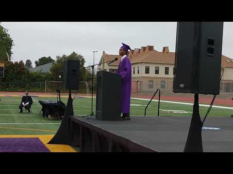 Oakland Technical High School Valedictorian, Ahmed Muhammad gives commencement speech on 5/29/21.