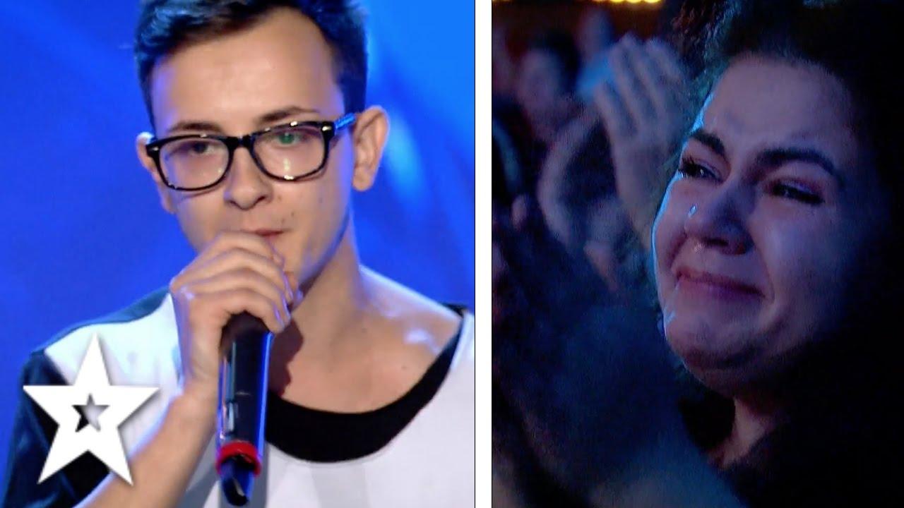 Rapper, Marius Mihăilă, Leaves Audience in Tears!   Auditions Week 2   Românii au talent