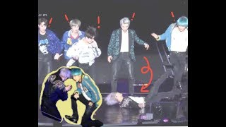 Sudden Change in DNA Dance? Jimin falls, & Jin takes his shoes off