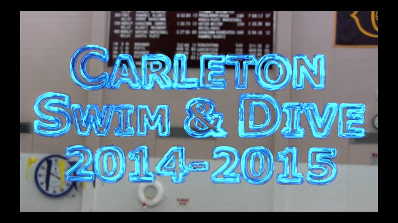 Carleton College Swimming Diving 2014 2015 Youtube