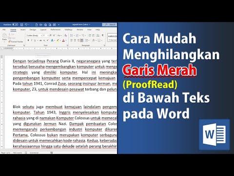 Cara Menghilangkan Garis Merah Koreksi Kata pada Microsoft Word