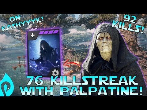 76 Killstreak With Emperor Palpatine In Star Wars Battlefront 2!