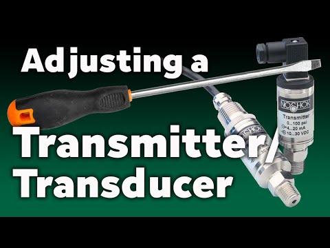 How to Adjust a NOSHOK Transmitter/Transducer