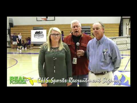 Chipley High School Athletic Scholarship Signing Interviews 12-7-16