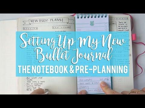 SETTING UP MY NEW BUJO | Notebook & Pre-Planning | Sam Granger
