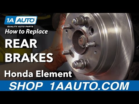 How to Replace Rear Brakes 03-11 Honda Element