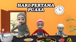 Hari Pertama Puasa Belajar Shalat Tarawih dan Sahur   Kartun Cerita Anak (2019) #12 KAKINA