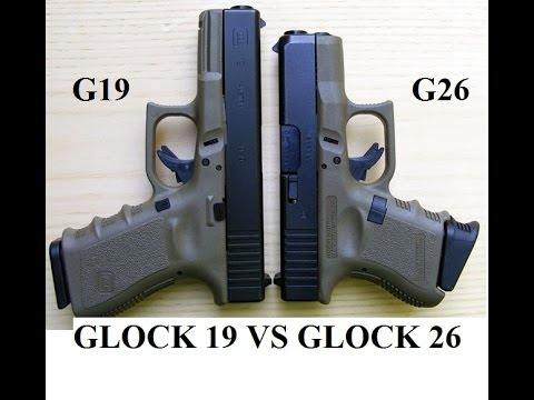 Glock 26 Vs Glock 19 Showdown Specs Best Cc Concealed Compared Carry