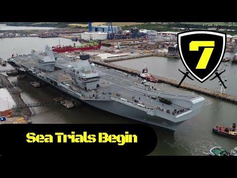Royal Navy - HMS Queen Elizabeth departs Rosyth Dockyard