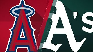 A's offense blitzes Halos in a 21-3 victory: 9/20/18
