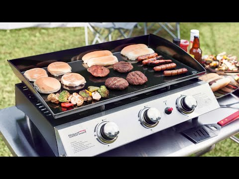 6545bc1ffa7 How to Install Royal Gourmet PD1300 Portable 3-Burner Propane Gas Grill  Griddle