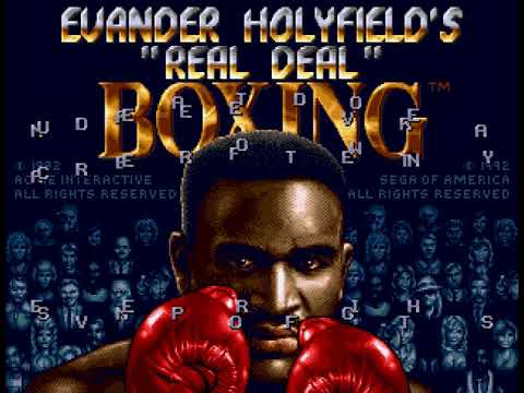 """Evander Holyfield's """"Real Deal"""" Boxing (GEN) - Title screen"""