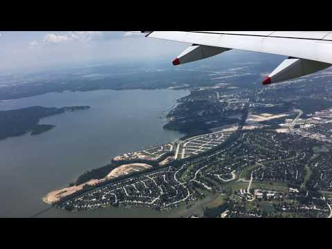 Houston George Bush Intercontinental Airport Approach and Landing August 2018