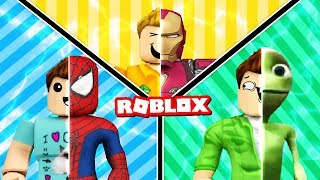LEARNING HOW TO BE SUPER HEROES IN ROBLOX! Spiderman & Iron Man Super Powers! (Roblox Roleplay)