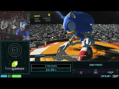 Sonic Forces by thebluemania in 58:15 - AGDQ2019