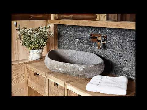 Раковины из речного камня. Bali Sink