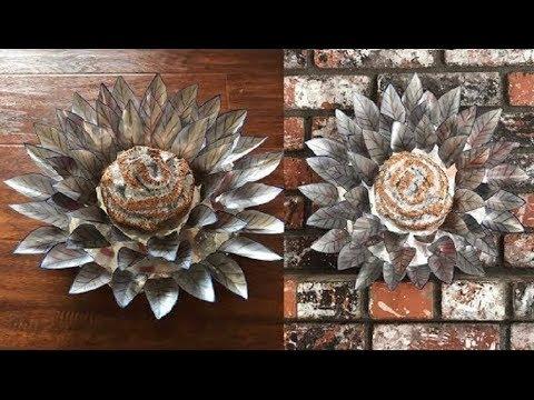 Recycled Soda Can Art Decor - DIY Centerpiece